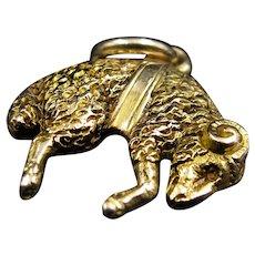 *The Golden Fleece* Antique Edwardian 15k Gold Pendant