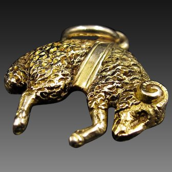 *The Golden Fleece* Antique Edwardian 15k Gold Pendant