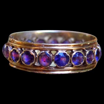 *Viola* Exceptional French Late 19th Century Amethyst Eternity Band in 18k Gold (size 6)