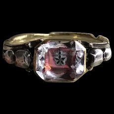 Rare Stuart Crystal Ring Circa 1750