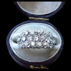 *Celestial Council* Vintage Diamond 14k Gold and Platinum Engagement Ring 1.50 cttw