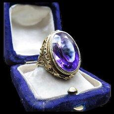 *Voidstrider* Amethyst Art Noveau Ring in 18k Gold