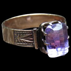 *The Rift* Amethyst Ring in 14k Gold