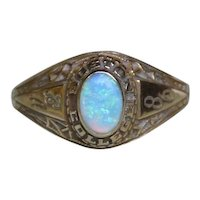 *Ever to Excel* Boston College 1986 Opal Class Ring