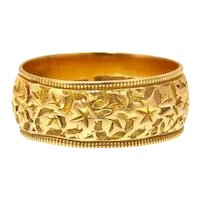 18k Gold Band with Relief Work c.1909