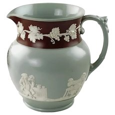 """Antique Copeland Late Spode Pitcher: """"Good old ALE"""""""