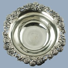 """Antique Tiffany & Co 9"""" Sterling Silver """"Clover"""" Pattern Bowl"""