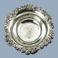 "Antique Tiffany & Co 9"" Sterling Silver ""Clover"" Pattern Bowl"