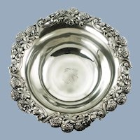 """Antique Tiffany & Co 9"""" Sterling Silver Clover Pattern Bowl"""