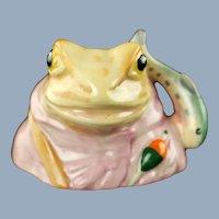 Vintage Beswick Beatrix Potter Jeremy Fisher Porcelain Frog Character Jug