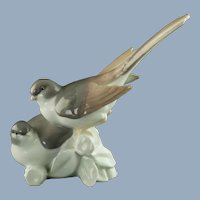 Vintage Lladro Porcelain Figural Bird Grouping Grupo de Pajaros