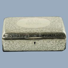 Antique Sterling Silver R Blackinton & Co Hand Chased Jewelry Box