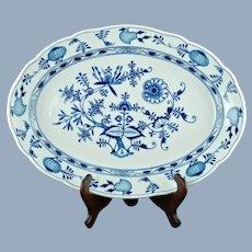 """Antique Meissen German Porcelain Blue Onion 19"""" Platter"""