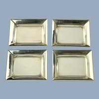 Vintage Stieff Sterling Silver Miniature Nut Dishes Trinket Dishes Ashtrays Matched Set of 4