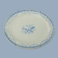 Antique Wedgwood Pearlware Peace Oval Platter with Dove and Olive Branch Motif