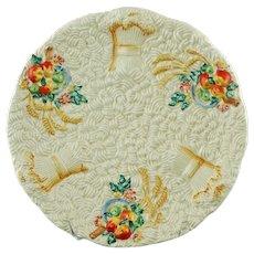 "Vintage Clarice Cliff Celtic Harvest Scalloped Edge 8.75"" Plate"