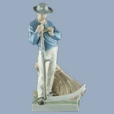 Vintage Royal Copenhagen Harvester - Man with Scythe #685 - Christian Thomsen