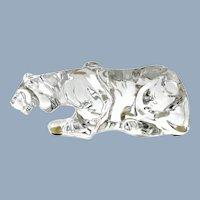 Vintage Baccarat Crystal Tiger Figurine