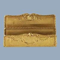 Antique Tiffany Studios Louis XVI Gilt Bronze Letter Rack Paper Holder