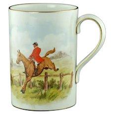 Antique Royal Crown Derby Bachelors Wish Bone China Pint Mug Hunting Tankard
