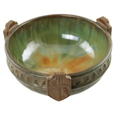 Antique Fulper Art Pottery Heraldic Bowl