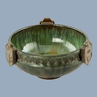 Antique Fulper Art Pottery Heraldic Bowl
