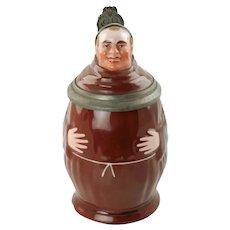 Antique Porcelain Figural Monk Character Lithophane Stein