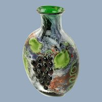 Vintage Orient and Flume Limited Edition Signed and Numbered Alexander Smallhouse Vase - Grape Motif
