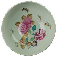 Vintage Vista Alegre for Mottahedeh Lowestoft Rose Floral Floral and Butterfly Bowl