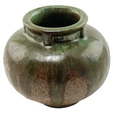 Antique Fulper Art Pottery Drip Glaze Vase 531