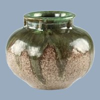 Antique Fulper Art Pottery Drip Glaze Vase 531
