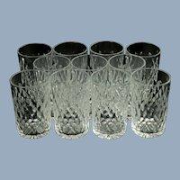 Antique Baccarat Clear Cut Crystal Boheme Form Glasses  - Set of 11