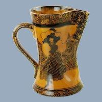 "Antique Royal Doulton Morrisian Ware Tudor Jug ""Eastern Figures"""
