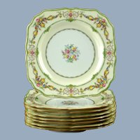 Vintage Mintons Bone China Stratford Luncheon Plates - Set of 8