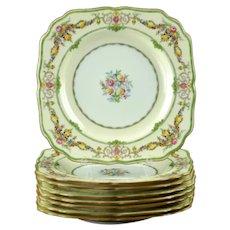 Vintage Mintons Bone China Stratford Square Luncheon Plates