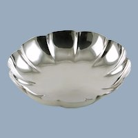 Vintage Tiffany & Co Sterling Silver Fluted Console Bowl 23292
