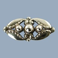 Antique Early Georg Jensen Sterling Silver Brooch Pin Design 156