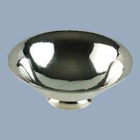 Vintage Harald Nielsen for Georg Jensen Hand Hammered Sterling Silver Pedestal Bowl
