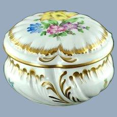 Vintage Herend Porcelain Primtemps Pattern Lidded Bon Bon Bowl