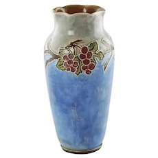 Antique English Doulton Lambeth Vera Huggins Florrie Jones Grape Motif Vase