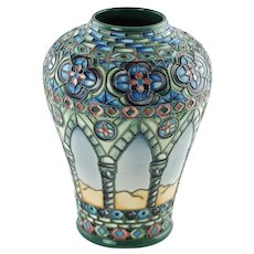 Vintage Limted Edition Moorcroft Pottery Meknes Day Vase by Beverley Wilkes