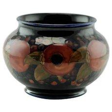 Vintage William Moorcroft Art Pottery Pomegranate Pattern Small Jardiniere