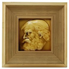 Antique Arthur Osborne Portrait Tile - The Philosopher