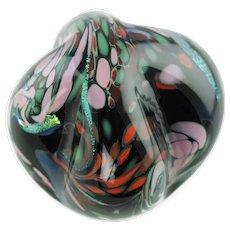 Large Rollin Karg Abstract Dichroic Art Glass Sculpture