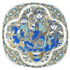 Vintage Bjorn Wiinblad for Rosenthal Limited Edition 1978 Christmas Plate Three Magi