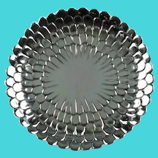 Vintage Tiffany & Co Sterling Silver Chrysanthemum Floriform Dish Tray