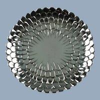 Vintage Tiffany & Co Sterling Silver Chrysanthemum Floriform Tray 25208