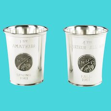 Vintage Webster Sterling Silver Applique Julep Beaker Trophies