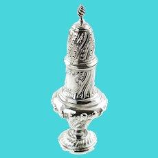 Antique Victorian Sterling Silver Muffineer Sugar Caster Goldsmiths & Silversmiths Co Ltd