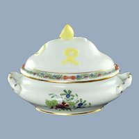 Vintage Herend Indian Basket Miniature Double Handled Tureen with Lemon Finial 6017/FDN